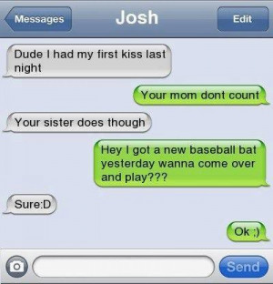 Funny text – First kiss