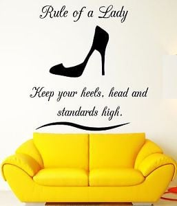 Wall-Decal-Quote-Rule-Lady-Woman-Girl-Vinyl-Stickers-Art-Mural-ig2577