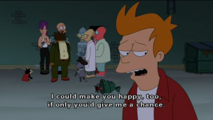 chance, cute, futurama, happy, quote, text