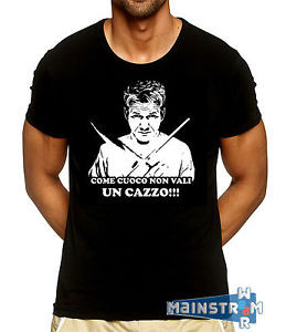 ... su T-SHIRT MAGLIETTA GORDON RAMSAY FRASI QUOTES HELL'S KITCHEN