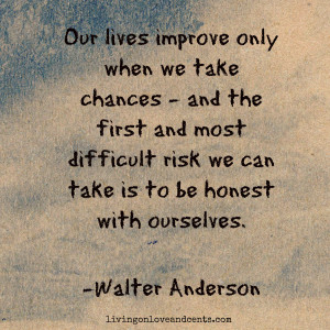 walter anderson quote about chances