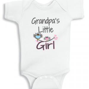 Grandpa's little Girl baby onesie