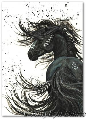 ... Stallion Mustang Horse Spirit Paint - BiHrLe Fine Art Original Prints
