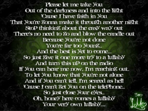 Nickelback- Lullaby this song talks about what happens when you are ...