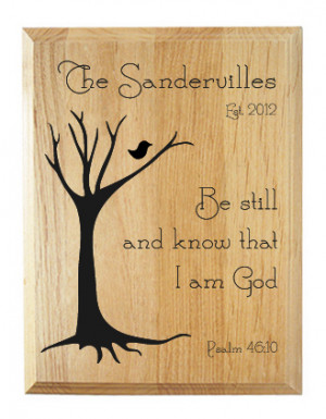 Be Still Family Name Plaque II