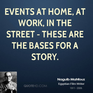 Naguib Mahfouz Home Quotes