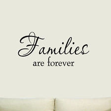 Families are Forever Vinyl Wall Art Quote Home Living Room Family ...