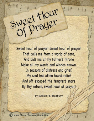 Sweet Hour of Prayer..love this song..;p