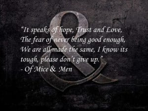 My Favorite Of Mice & Men Quote