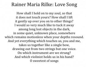 Rilke Love Poems For Wedding