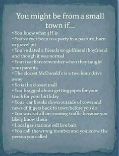 small towns i know our towns small
