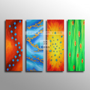 Oil painting 4 abstract pure modern house decorative painting ...