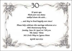 30th Anniversary Invitation areBecoming Very Popular!
