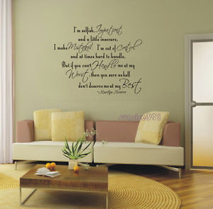 ... 05529 Marilyn Monroe Quote Wall Stickers Home Decal Sticker Quotes