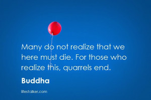 buddha quotes on life and death