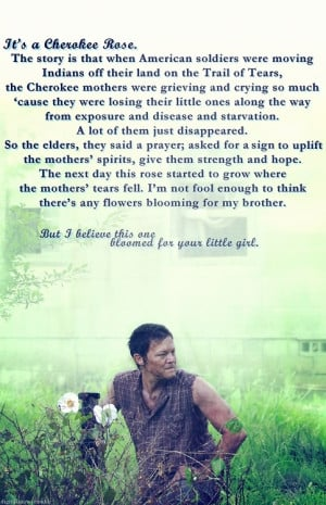 The Cherokee Rose Daryl gives to Carol Cheroke Rose, Daryl Dixon ...