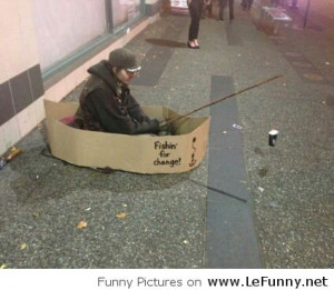 Fishing Homeless Guy – Funny Pictures – Funny pictures with ...