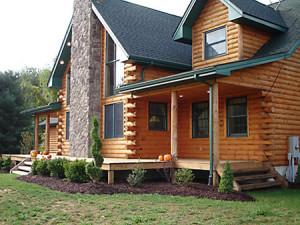 Log Cabin Landscape
