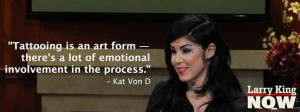 She might be the countrys most famous tattoo artist, and Kat Von D ...