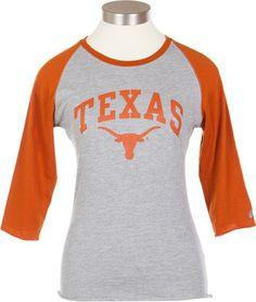Ladies Texas Over Longhorn Baseball T-Shirt More