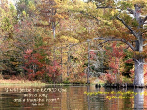 Autumn Trees at Chickahominy Lakewith Bible Verse