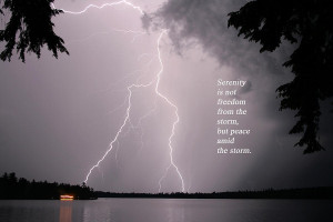 Lightning At The Lake - Inspirational Quote Photograph