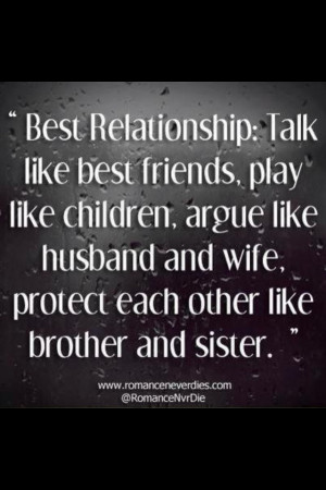 ... husband and wife; protect each other like brother and sister #quotes #