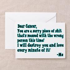 Letter To Cancer Greeting Card for