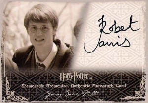 Auto Robert Jarvis as Young James Potter photo ...