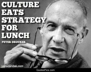 Culture eats strategy for lunch… – Peter Drucker