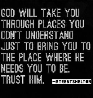 God, show me the way...