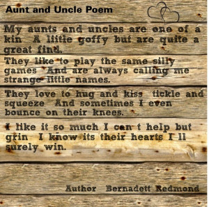 Aunt and uncle Poem
