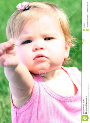 More similar stock images of ` Sweet Baby Girl Sharing Her Discovery `