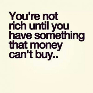 Who needs money.