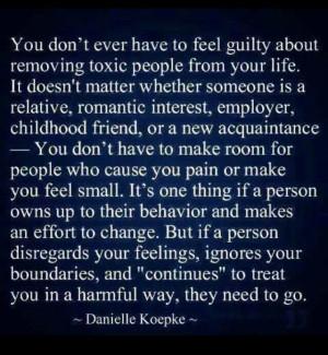 Toxic people, toxic relationships