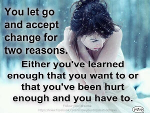 letting go and accepting change