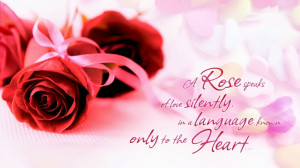 Valentines Day Quote To Express Love With Rose Image