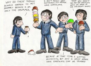 Beatles After Visiting An Ice Cream Shop by IrishBecky