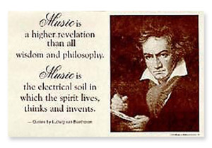 Quote Poster: BEETHOVEN