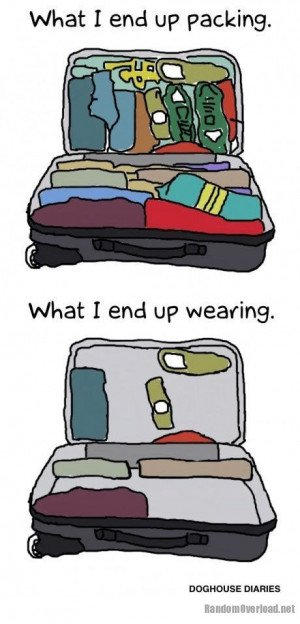 Packing before a trip