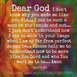 Dear God ..