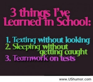 Funny things I ve learned in school