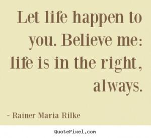 Rainer Maria Rilke Life Quote Canvas Art
