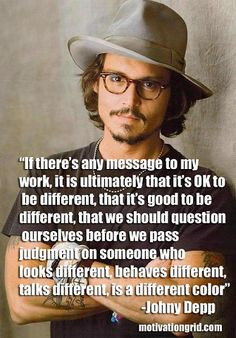 Motivational Quote Image - Johny Depp - http://motivationgrid.com ...