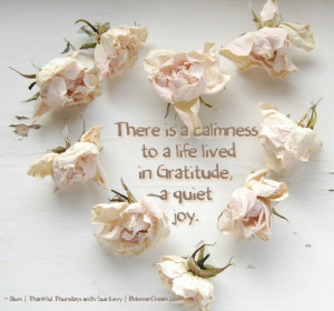 ... to be Thankful on Such a Thankful Thursday: A life in gratitude quote
