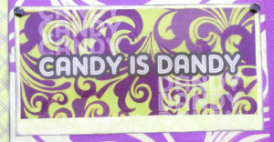 and I just had to use this Candy is Dandy quote. It matches the purple ...