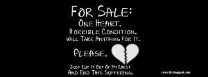 For Sale Broken Heart Timeline Cover Facebook