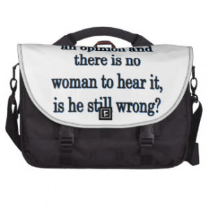 Man's Opinion - Funny Sayings Laptop Messenger Bag