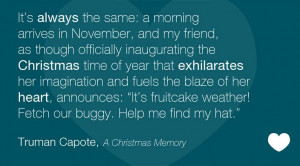 Truman Capote, A Christmas Memory
