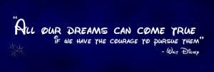 disney movie quotes about dreams